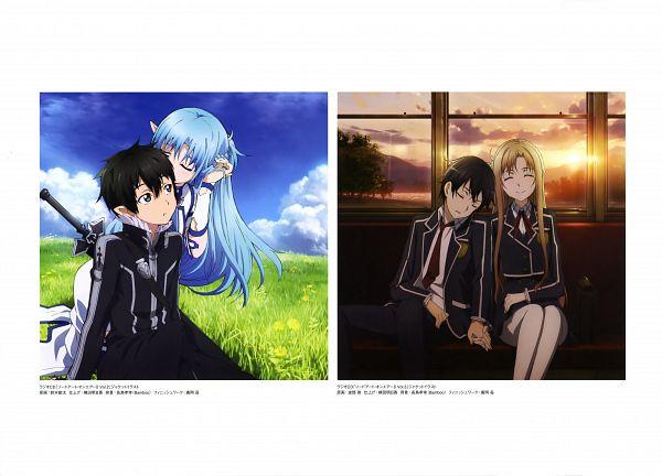 Tags: Anime, Habe Takashi, Suzuki Kanta, A-1 Pictures, Sword Art Online, Sword Art Online Artbook (Tentative), Kirigaya Kazuto, Asuna (ALO), Kirito (ALO), Yuuki Asuna, Scan, Official Art