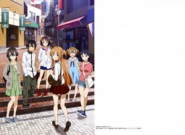 Tags: Anime, A-1 Pictures, Sword Art Online, Sword Art Online Artbook (Tentative), Shinozaki Rika, Ayano Keiko, Yuuki Asuna, Kirigaya Suguha, Kirigaya Kazuto, Asada Shino, Official Art, Scan