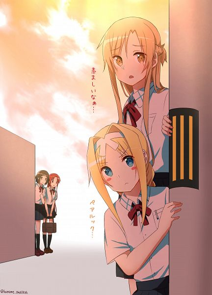 Tags: Anime, Pixiv Id 22257211, Sword Art Online, Alice Schuberg, Yuuki Asuna, Ronye Arabel, Tiese Shtolienen
