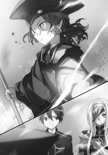 Tags: Anime, abec, Sword Art Online, Kirigaya Kazuto, Cardinal (Sword Art Online), Alice Schuberg, Novel Illustration, Official Art