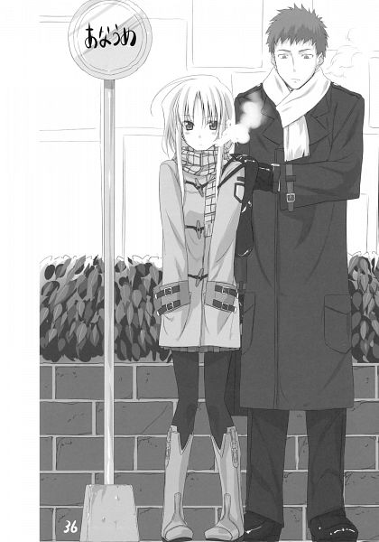 Tags: Anime, Himura Kiseki, TYPE-MOON, Sword Dancers (Fate), Fate/stay night, Archerko, Emiya Shirou, Mobile Wallpaper