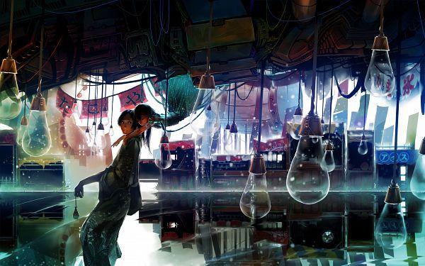 Tags: Anime, Syh3iua83, Water Reflection, Water Yoyo, Original, Wallpaper, Pixiv, HD Wallpaper