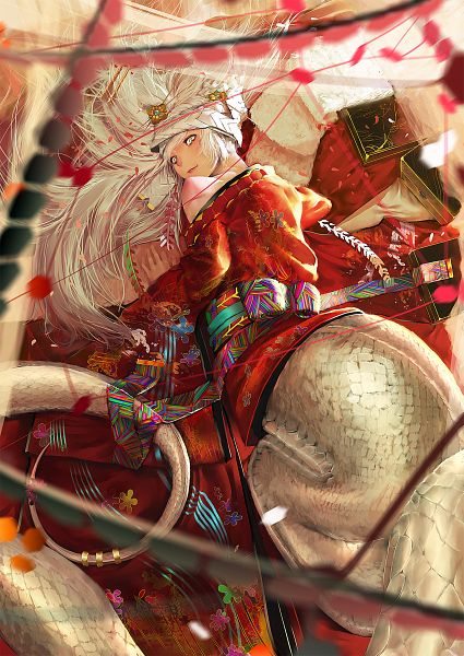 Tags: Anime, Syh3iua83, Snake (Chinese Zodiac), Lamia, Depth Of Field, Motion Blur, Happy 2013, Pixiv, Original, Mobile Wallpaper, Chinese Zodiac