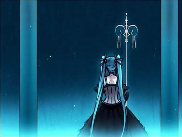 Tags: Anime, Suzunosuke, VOCALOID, Hatsune Miku, Shakujou, Screenshot, Synchronicity
