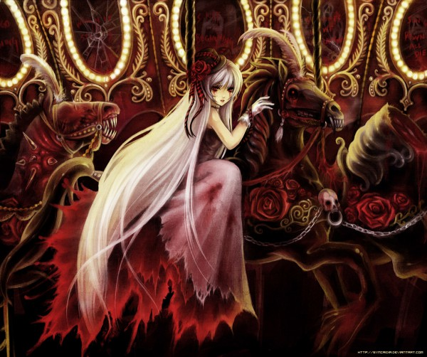 Tags: Anime, Synpai, Carousel, Horseback Riding, Broken Glass, deviantART, Original