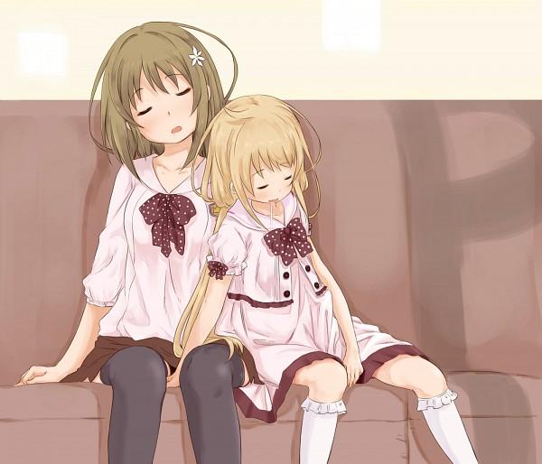 Tags: Anime, Abe Kanari, THE iDOLM@STER: Cinderella Girls, Mimura Kanako, Futaba Anzu, Flower Clip, Idolmaster: Cinderella Girls