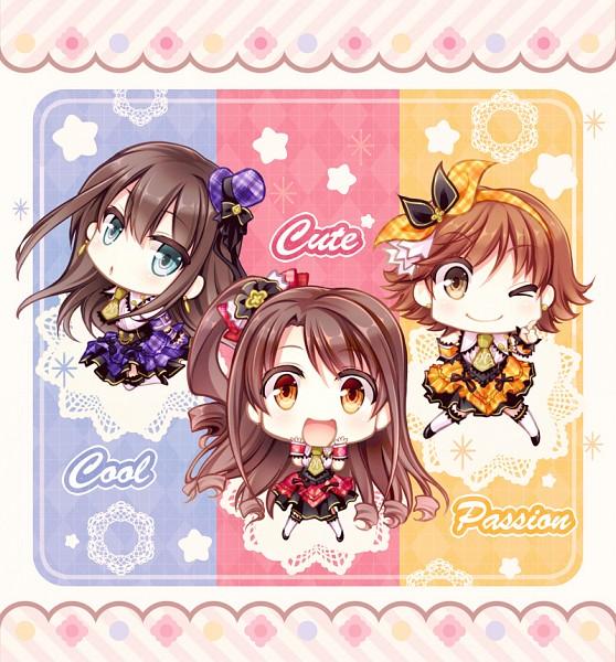 Tags: Anime, Mori Kouichirou, THE iDOLM@STER: Cinderella Girls, Honda Mio, Shimamura Uzuki, Shibuya Rin, Fanart, Revision, Idolmaster: Cinderella Girls