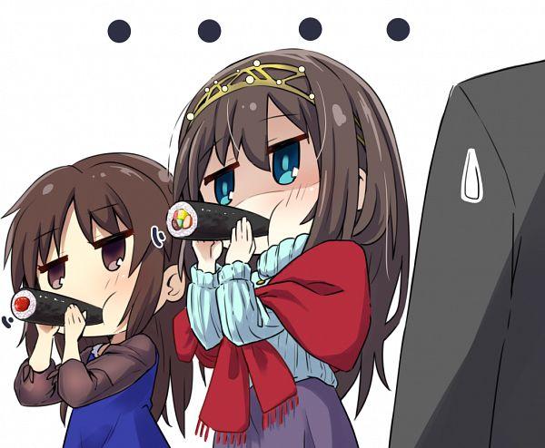 Tags: Anime, Pixiv Id 3686799, THE iDOLM@STER: Cinderella Girls, Sagisawa Fumika, Tachibana Alice, Setsubun, Sushi, Idolmaster: Cinderella Girls