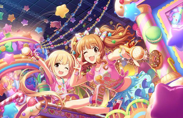 Tags: Anime, THE iDOLM@STER: Cinderella Girls, Futaba Anzu, Moroboshi Kirari, Ankira!? Kyousoukyoku, Official Art, Official Card Illustration, Idolmaster: Cinderella Girls