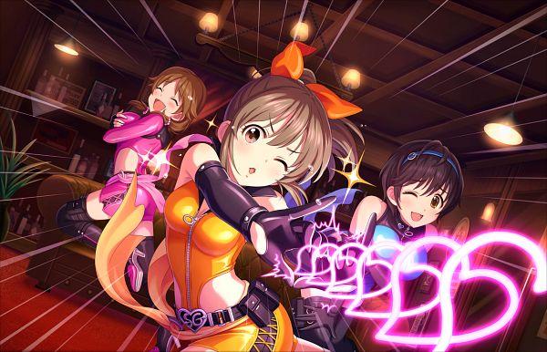 Tags: Anime, THE iDOLM@STER: Cinderella Girls, Katagiri Sanae, Oikawa Shizuku, Hori Yuuko, Mouretsu★Yonaoshi Guilty!, Official Art, Official Card Illustration, Idolmaster: Cinderella Girls