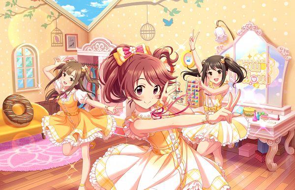 Tags: Anime, THE iDOLM@STER: Cinderella Girls, Nakano Yuka, Shiina Noriko, Mizumoto Yukari, Official Card Illustration, Official Art, Kawaii Make My Day!, Idolmaster: Cinderella Girls
