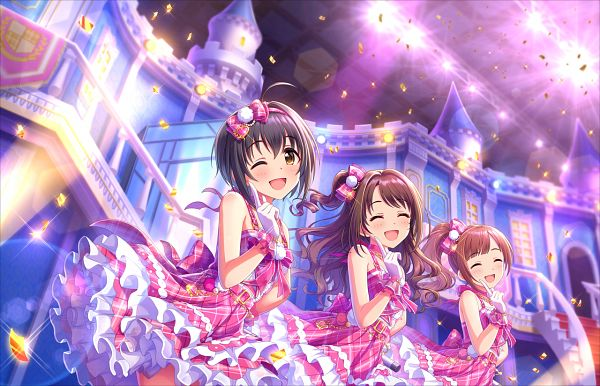 Tags: Anime, THE iDOLM@STER: Cinderella Girls, Igarashi Kyouko, Shimamura Uzuki, Kohinata Miho, Official Card Illustration, Official Art, Palette (Idolmaster), Idolmaster: Cinderella Girls
