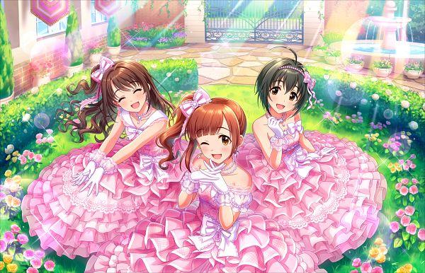 Tags: Anime, THE iDOLM@STER: Cinderella Girls, Kohinata Miho, Igarashi Kyouko, Shimamura Uzuki, Palette (Idolmaster), Official Card Illustration, Official Art, Idolmaster: Cinderella Girls