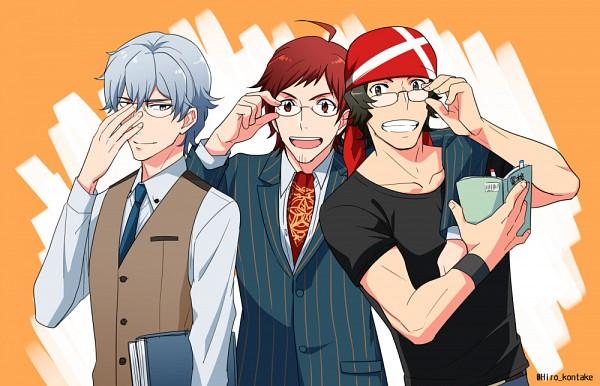 Tags: Anime, Pixiv Id 2746719, THE iDOLM@STER: SideM, Enjouji Michiru, Hazama Michio, Tendou Teru, Artist Request