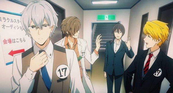 Tags: Anime, THE iDOLM@STER: SideM, Maita Rui, Yamashita Jiro, Hazama Michio, Screenshot