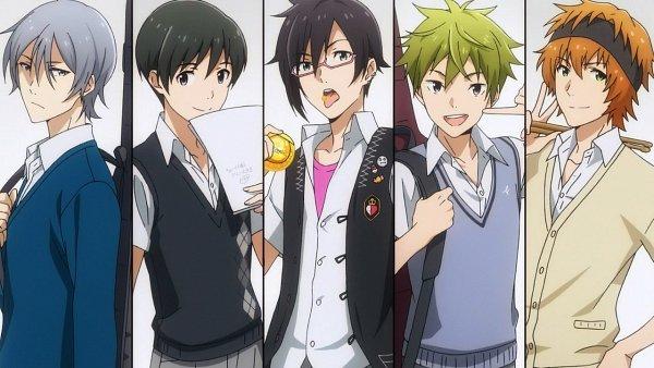 Tags: Anime, THE iDOLM@STER: SideM, Iseya Shiki, Akiyama Hayato, Sakaki Natsuki, Fuyumi Jun, Wakazato Haruna, Screenshot, Wallpaper