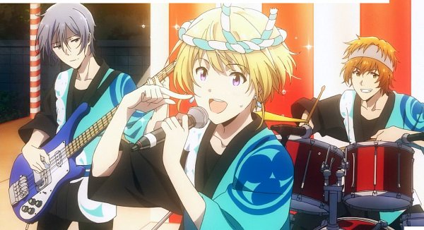 Tags: Anime, THE iDOLM@STER: SideM, Wakazato Haruna, Pierre (iDOLM@STER: SideM), Sakaki Natsuki, Drum, Screenshot