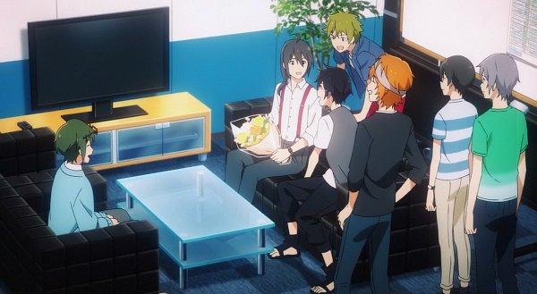 Tags: Anime, THE iDOLM@STER: SideM, Sakaki Natsuki, Fuyumi Jun, Wakazato Haruna, Yamamura Ken, Iseya Shiki, Akiyama Hayato, Screenshot