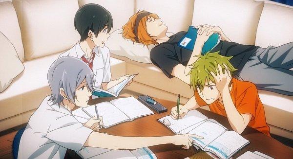 Tags: Anime, THE iDOLM@STER: SideM, Sakaki Natsuki, Fuyumi Jun, Wakazato Haruna, Akiyama Hayato, Study, Screenshot