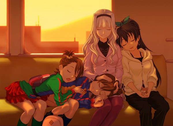 Tags: Anime, Pixiv Id 1806944, Namco, THE iDOLM@STER, Futami Ami, Futami Mami, Ganaha Hibiki, Shijou Takane, Dodo (Bird), The Idolmaster