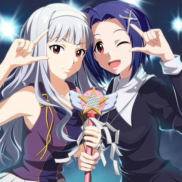 Tags: Anime, Kouchou, THE iDOLM@STER, Miura Azusa, Shijou Takane, Cross Clip, Zange (Cosplay), Nagi (Cosplay), Fanart, The Idolmaster