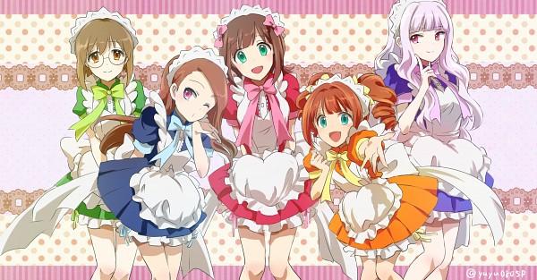 Tags: Anime, Pixiv Id 4756152, THE iDOLM@STER, Minase Iori, Amami Haruka, Shijou Takane, Takatsuki Yayoi, Hagiwara Yukiho, Momomiya Ichigo (Cosplay), Pudding Fon (Cosplay), Fujiwara Zakuro (Cosplay), Green Ribbon, Midorikawa Lettuce (Cosplay), The Idolmaster