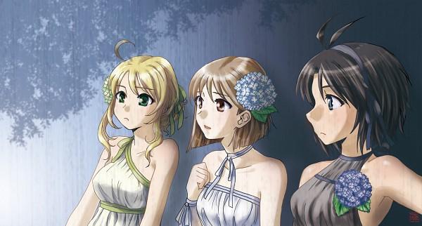 Tags: Anime, THE iDOLM@STER, Hoshii Miki, Kikuchi Makoto, Hagiwara Yukiho, Artist Request, The Idolmaster