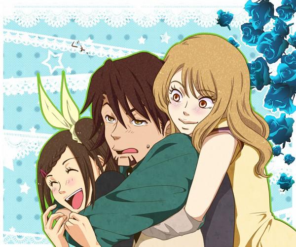 Tags: Anime, Pixiv Id 710376, TIGER & BUNNY, Kaburagi T. Kotetsu, Kaburagi Kaede, Karina Lyle, Pixiv, Fanart