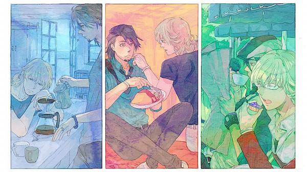 Tags: Anime, Yukasu, TIGER & BUNNY, Barnaby Brooks Jr., Kaburagi T. Kotetsu, Newspaper, Facebook Cover, Pixiv, Fanart