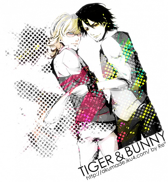 Tags: Anime, Re°, TIGER & BUNNY, Kaburagi T. Kotetsu, Barnaby Brooks Jr., Pixiv, Fanart