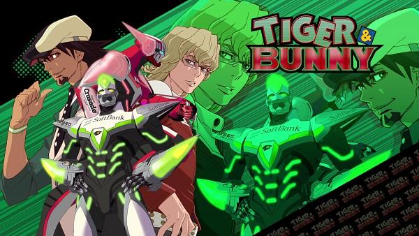 Tags: Anime, TIGER & BUNNY, Kaburagi T. Kotetsu, Barnaby Brooks Jr., Wild Tiger, Wallpaper, HD Wallpaper, Official Art, Official Wallpaper
