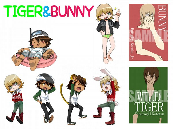 Tags: Anime, Sloopy, TIGER & BUNNY, Kaburagi T. Kotetsu, Barnaby Brooks Jr.