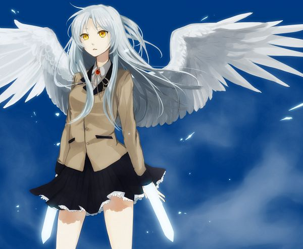 Tags: Anime, Kurasawa Moko, Angel Beats!, Tachibana Kanade, Hand Sonic, Fanart From Pixiv, PNG Conversion, Pixiv, Fanart