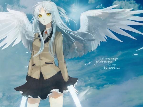 Tags: Anime, Angel Beats!, Tachibana Kanade, 1400x1050 Wallpaper, Edited, Fanmade Wallpaper, Wallpaper