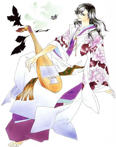 Tags: Anime, Mizuno Tohko, Harukanaru Toki no Naka de, Tachibana no Tomomasa, Lute, Official Art