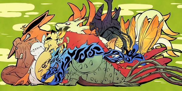 Tags: Anime, Pixiv Id 4519096, NARUTO, Yonbi, Kyuubi (NARUTO), Hachibi, Sanbi no Kyodaigame, Nanabi, Nibi no Bakeneko, Rokubi, Uzumaki Naruto, Gobi, Shukaku