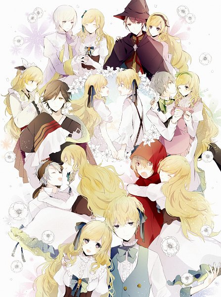 Tags: Anime, Pixiv Id 15019173, Taishou x Alice, Cinderella (Taishou x Alice), Wizard (Taishou x Alice), Arisu Yurika, Gretel (Taishou x Alice), Alice (Taishou x Alice), Kaguya (Taishou x Alice), Red Riding Hood (Taishou x Alice), Snow White (Taishou x Alice), Fanart
