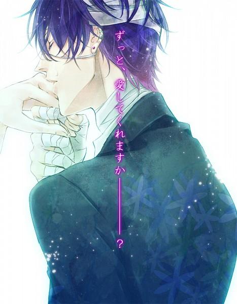 Tags: Anime, Kurumi Kako, VOCALOID, KAITO, Taito, Fanart, Yandereloid