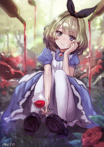 Tags: Anime, Meto31, THE iDOLM@STER: Cinderella Girls, Takagaki Kaede, Alice (Alice in Wonderland) (Cosplay), Mobile Wallpaper, Fanart