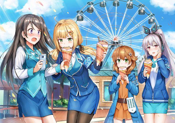Tags: Anime, Pixiv Id 4570006, Ann (Takame Shoujo), Nana (Takame Shoujo), Emilia (Takame Shoujo), Xiao Qiong, Takame Shoujo