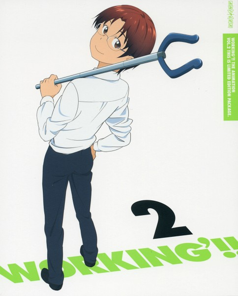 Tags: Anime, A-1 Pictures, Working!!, Takanashi Souta, Scan, DVD (Source), Official Art