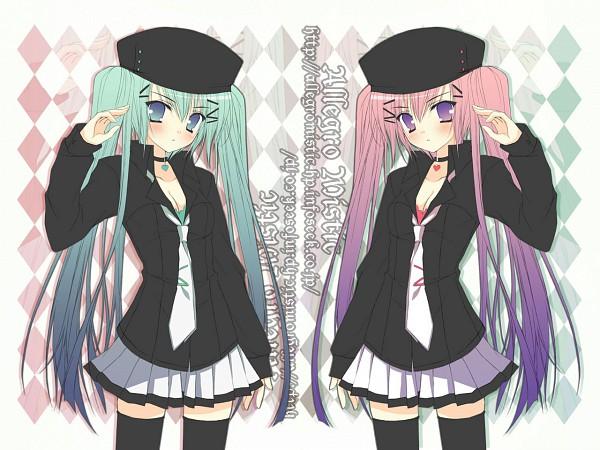 Tags: Anime, Takano Yuki, Mirror Image, Symmetry, Opposites, Pixiv, Original, Wallpaper