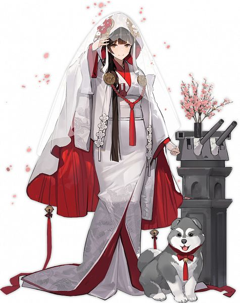 Tags: Anime, Kishiyo, Yostar, Azur Lane, Takao (Azur Lane), Shiromuku, Cover Image, Sakura Hanami, Official Art