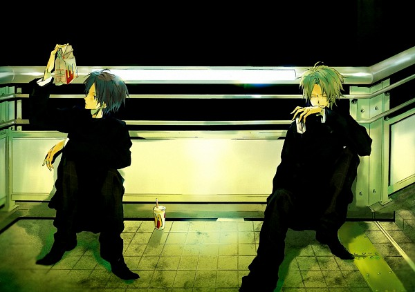 Tags: Anime, Takarai Rihito, Tennis no Ouji-sama, Akutagawa Jiro, Atobe Keigo, McDonald's Meal