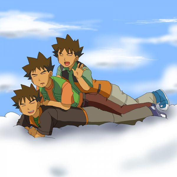 Tags: Anime, Pixiv Id 235215, Pokémon Red & Green, Pokémon, Takeshi (Pokémon), Brock