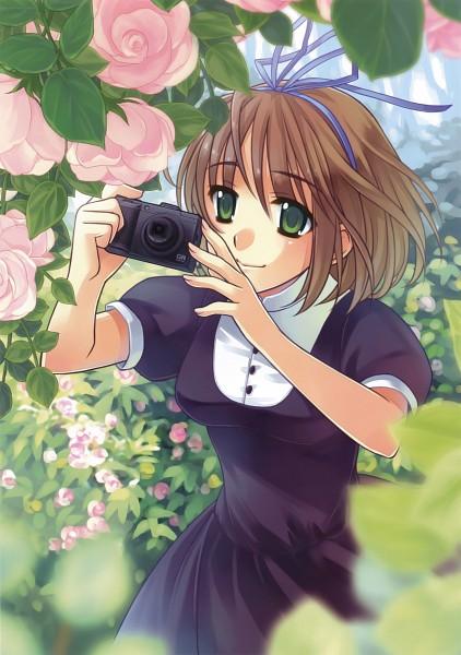 Tags: Anime, Takigawa Yuu, Girls with Cameras, Garden, Pixiv