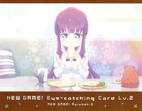 Tags: Anime, Dogakobo, NEW GAME!, Takimoto Hifumi, Eyecatcher, NEW GAME! - Eyecatcher, Official Art, Scan, Hifumi Takimoto