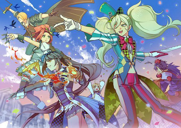 Tags: Anime, Aw.H, Tales of Berseria, Magilou (Tales of Berseria), Eleanor Hume, Rokurou Rangetsu, Laphicet (Tales of Berseria), Eizen (Tales of Berseria), Velvet Crowe