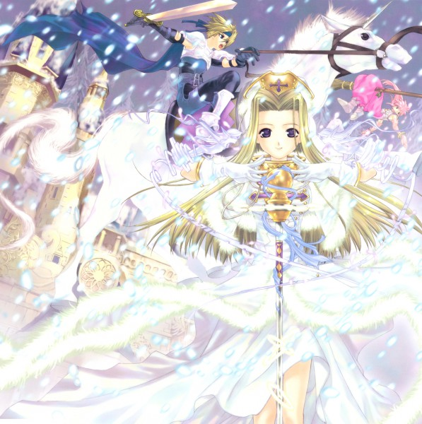Tags: Anime, Tales of Phantasia, Arche Klein, Mint Adenade, Cless Alvein, Artist Request