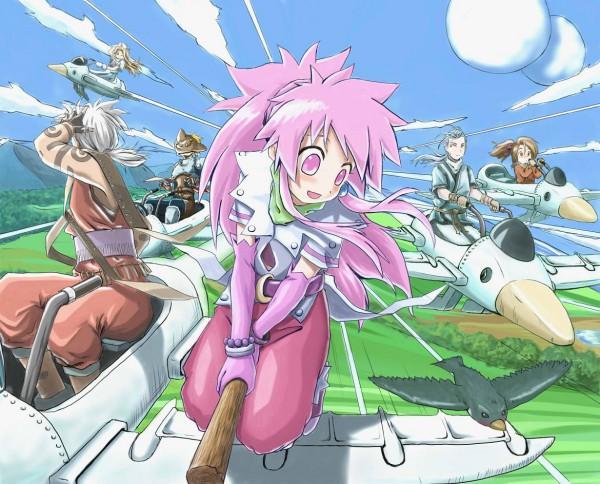 Tags: Anime, Neko (Hansinn), Tales of Phantasia, Arche Klein, Fujibayashi Suzu, Mint Adenade, Klarth Lester, Chester Barklight, Cless Alvein